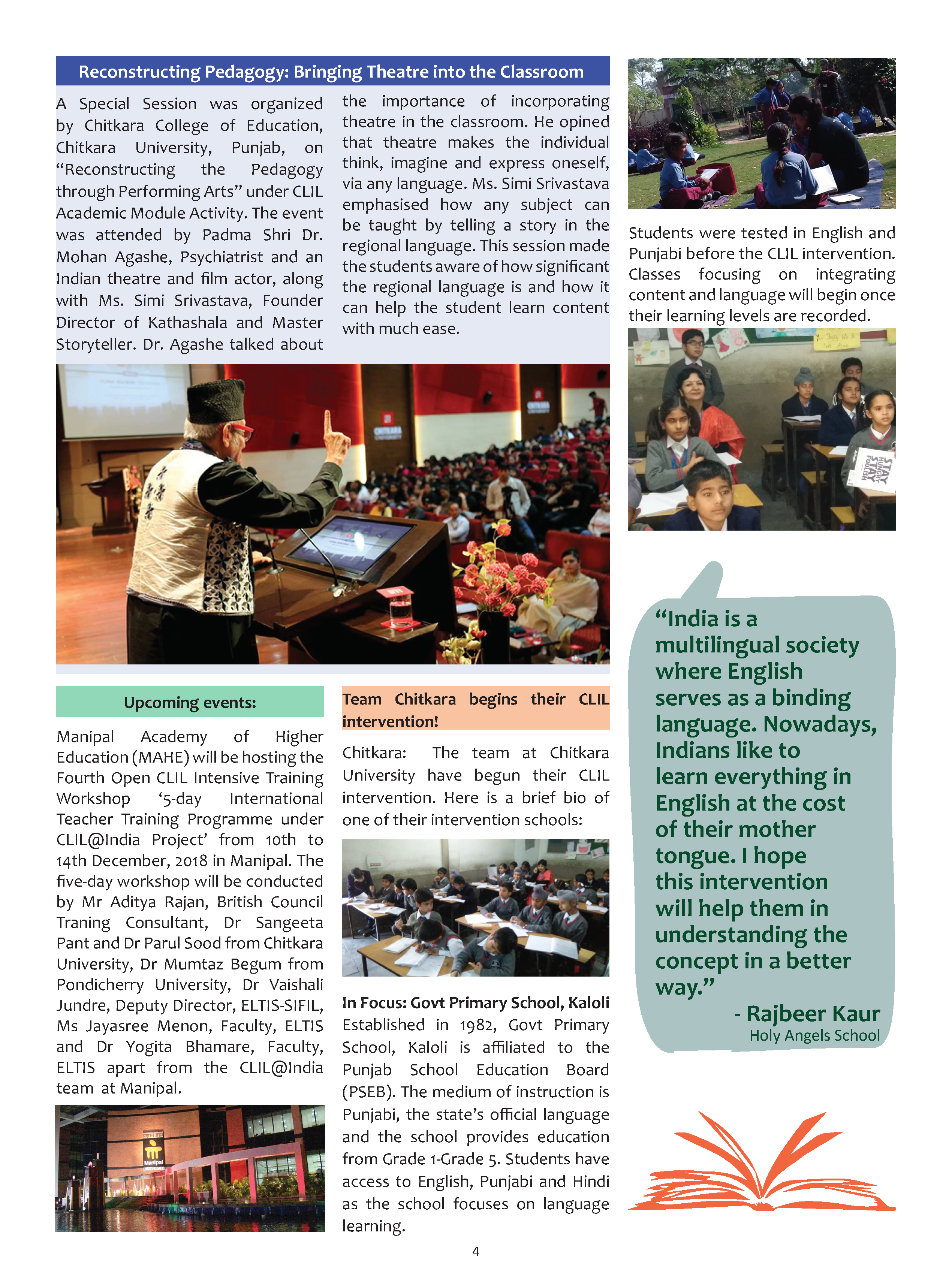 Looking Back on 2018! – CLIL@INDIA- Clil India | Language Learning